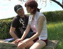 13125 - Une baise en plein air d'une salope rouquine