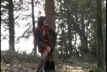 Grand-père gay encule deux travelos sous les bois