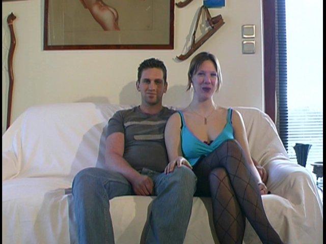 210 1 - Christine se lance devant la caméra avec son mari et un inconnu